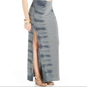 Jessica Simpson Gray Tie Dye Long Maxi Skirt